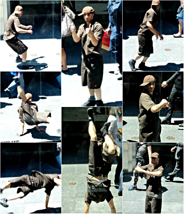 Weekly Photo Challenge: From Every Angle - Breakdancer on a Manhattan St