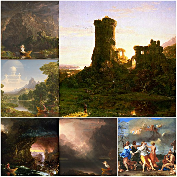 Motivation Mondays: TIME - Thomas Cole : Voyage of Life from Childhood to Old Age & N. Poussin: Dance to Music of Time
