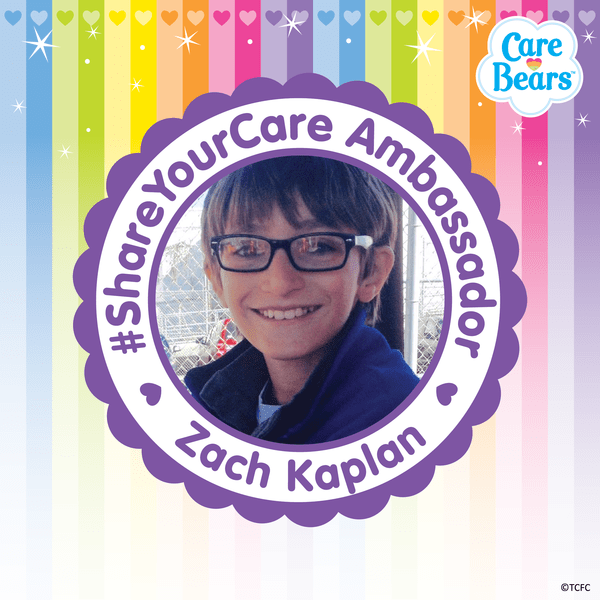 National Care Bears #ShareYourCare Day! - Help Zach Kaplan Achieve his Mission