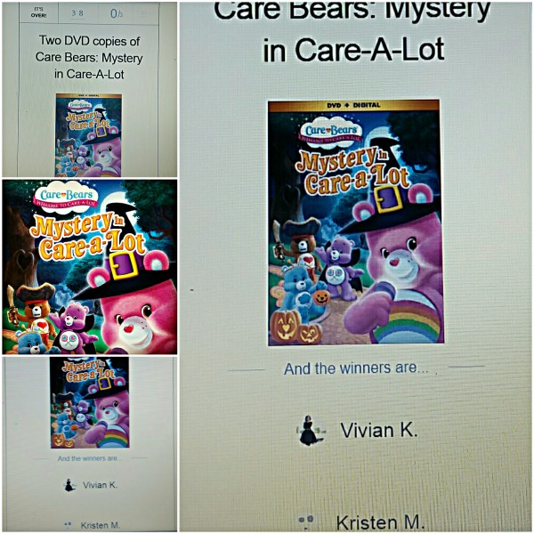 2 Winners of Care Bears DVD