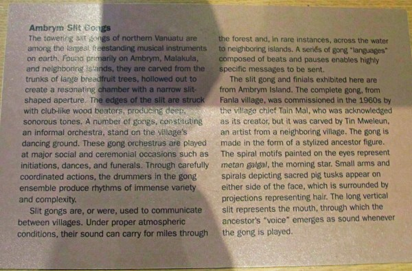 Weekly Photo Challenge: TRIO – Information on the Ambryn Slit Gongs