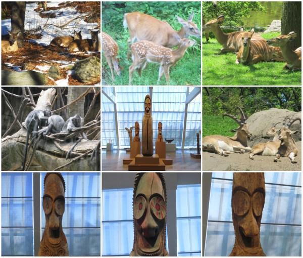 Weekly Photo Challenge: TRIO - Art, Animals, Nature ... in repose.