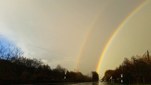Weekly Photo Challenge: OPTIMISTIC - the delight of a double rainbow