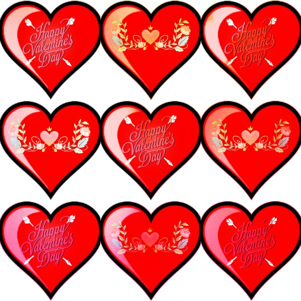 Valentine's Day Collage: Have A Happy Valentine's Day filled with love, flowers and chocolates!