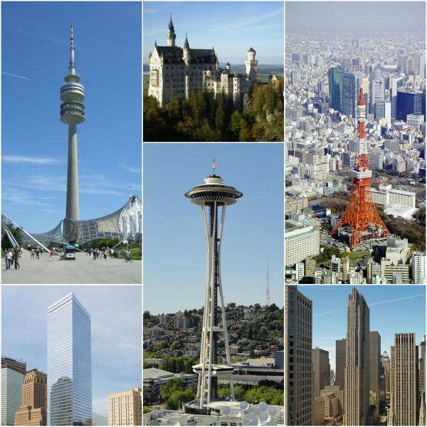 Photo Challenge: ATOP - Super tall buildings and locations mentioned in the post.