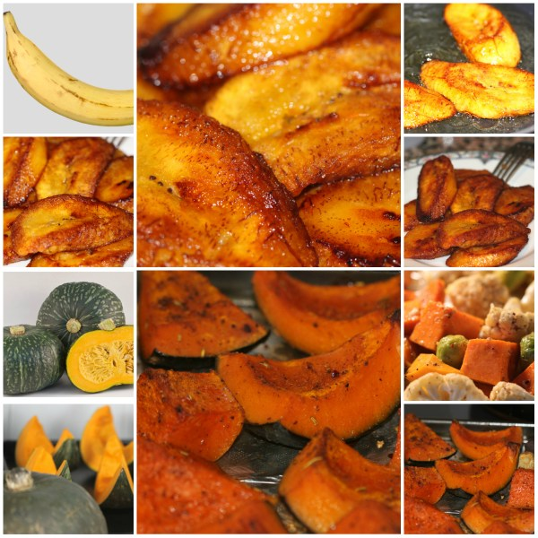 Food Files: Fried Ripe Plantains & Roasted Kabocha