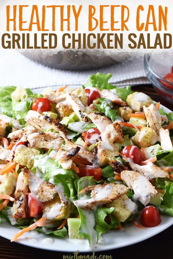 Healthy Beer Can Grilled Chicken Salad