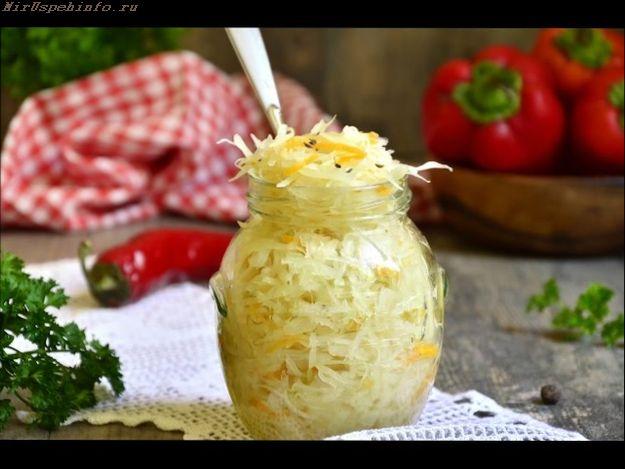 рецепт квашеної капусти в банку