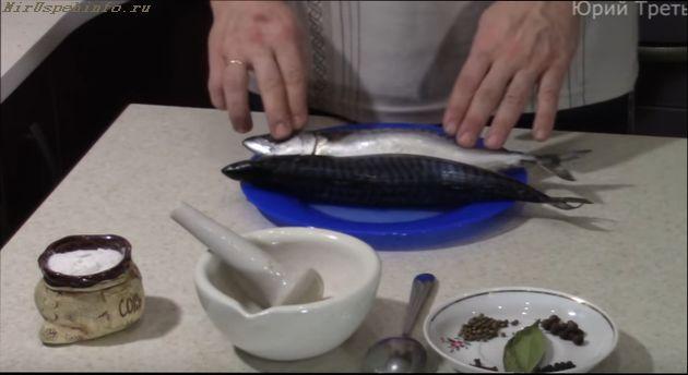 подготовить рыбу для копчения