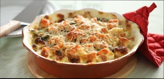 Запеканка из цветной капусты и курицы -простой и вкусный ужин