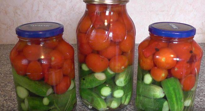 Ассорти на зиму помидоры и огурцы