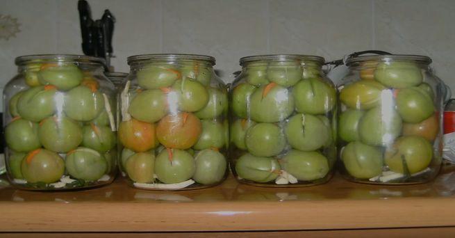 Рецепты зеленых помидор с чесноком на зиму