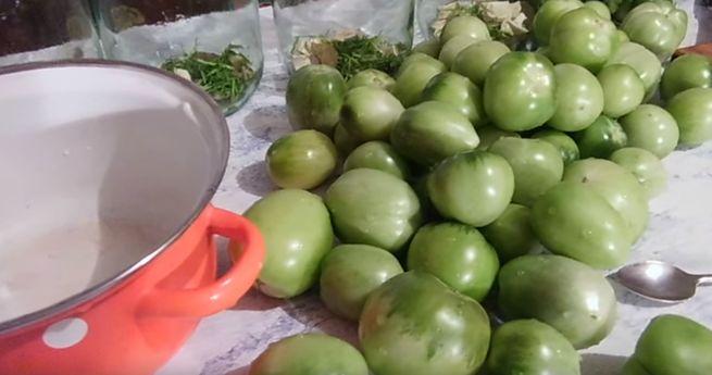 популярные рецепты зеленых помидор