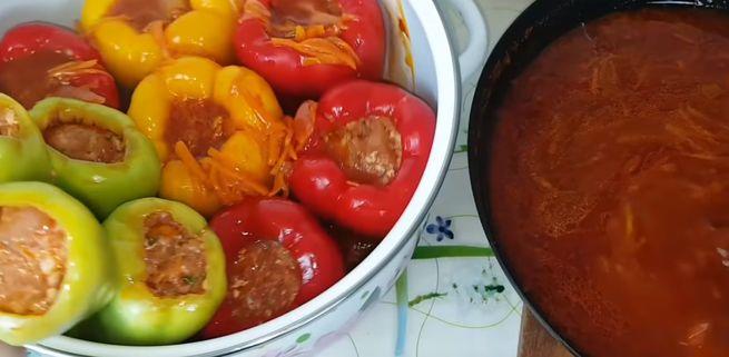 пошаговый рецепт фаршированного перца