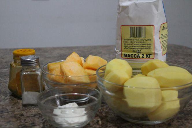 картофельные оладьи из сырой квртошки и тыквы