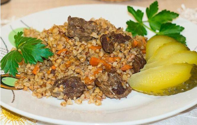 гречка на пару с мясом и овощами