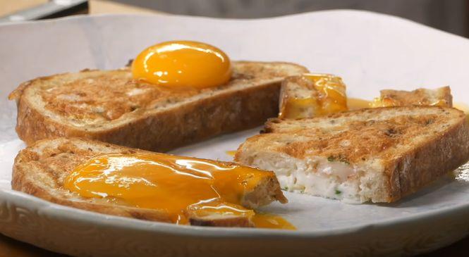 хлеб и два яйца