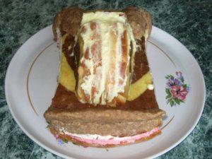 Қалыптастырылған торт шеңбері: Артқы көрініс