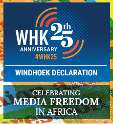 Windhoek Declaration 25th Anniversary Banner