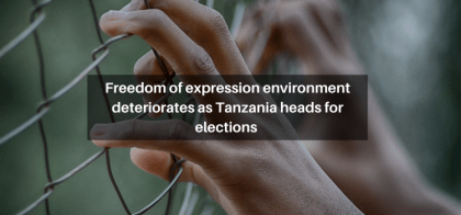 Freedom of expression environment deteriorates as Tanzania heads for elections