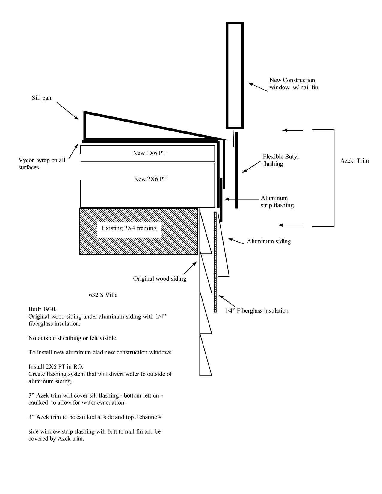 Bungalow Replacement Windows Installation Details Part 2