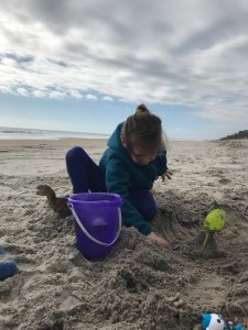 Topsail Island in January is great for playing!