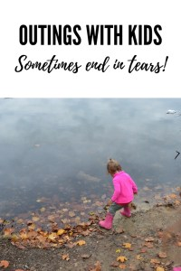 Sometimes outings with kids start off great, and then end in tears. It's OK! These are the adventures of any outdoor mom!