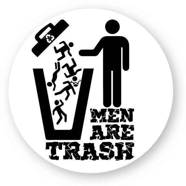 Stickers rond - MEN ARE TRASH