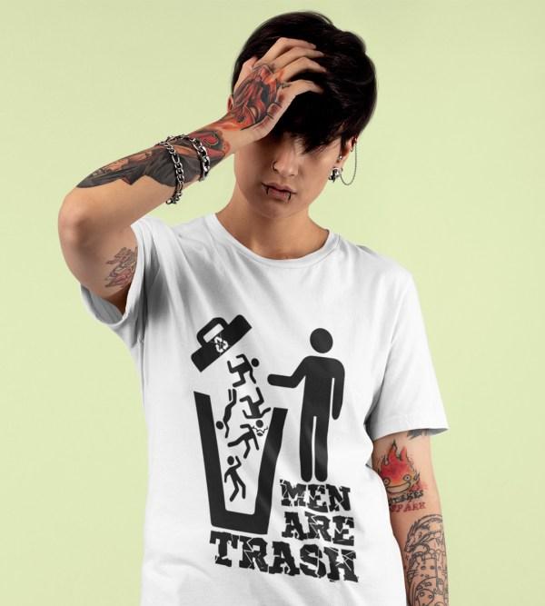 t shirt MEN ARE TRASH
