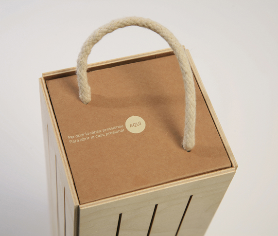 Reutilizar packaging de vino