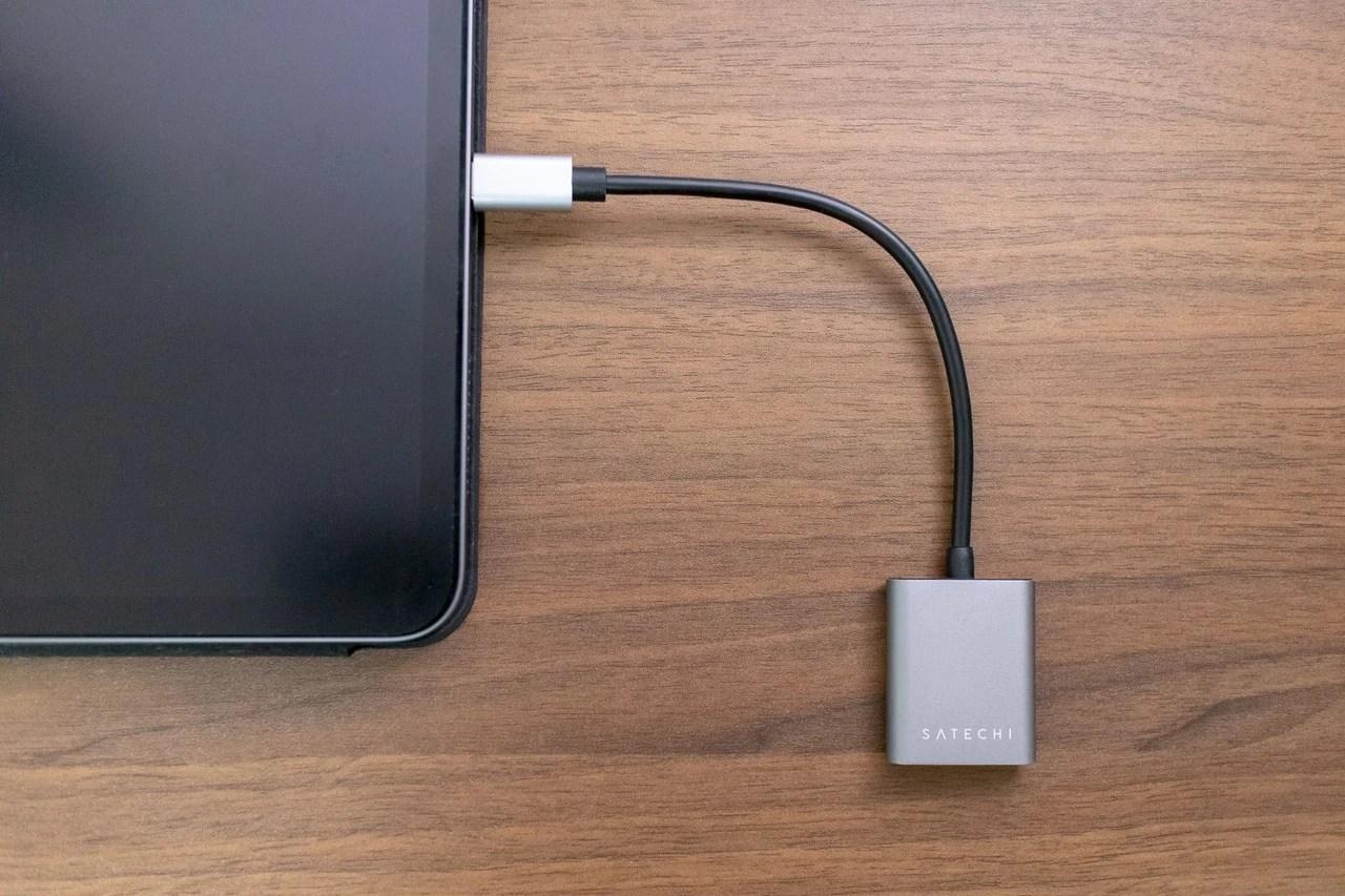 Satechi Type-C to 3.5mm オーディオヘッドホンジャック アダプタはiPad Proと相性抜群