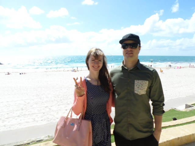 Me and my bro on Cottesloe Beach