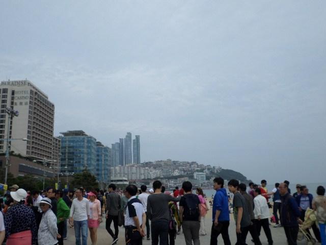 Busan's famous (and overcrowded) Haeundae Beach