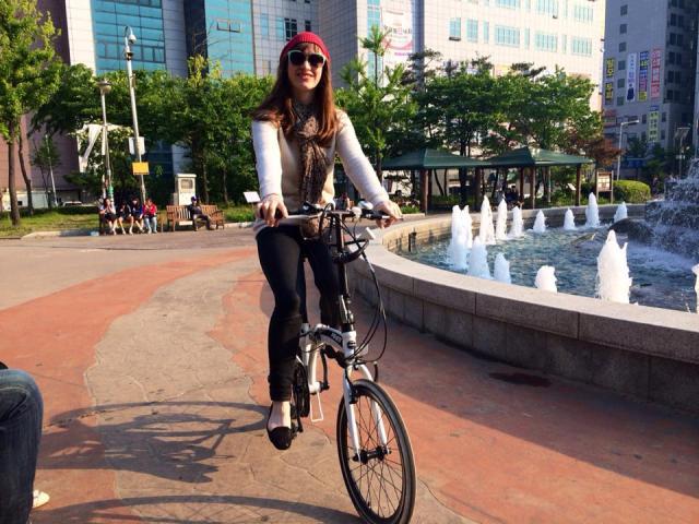 Just ridin' mah bike :)