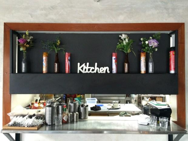 The beautiful kitchen area