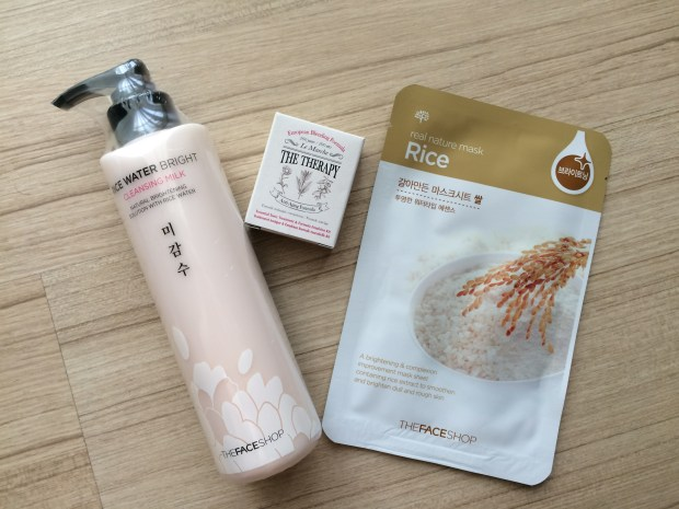 The Face Shop's Rice Water Bright Cleansing Milk + Rice Mask