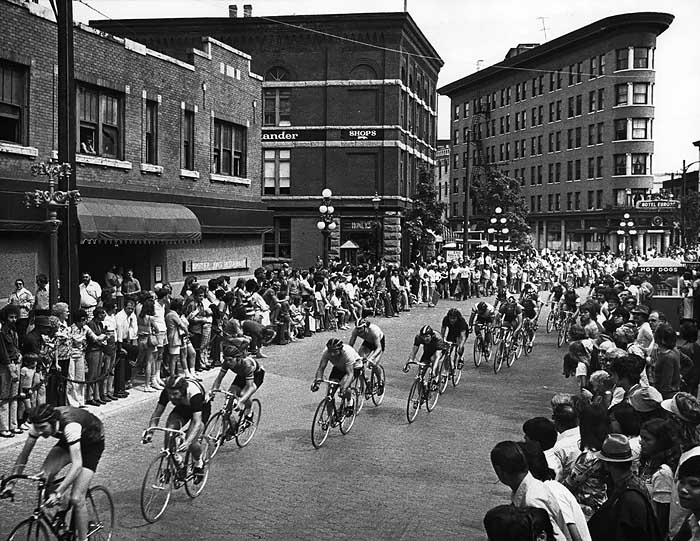 Gastown Grand Prix bicycles race 1975