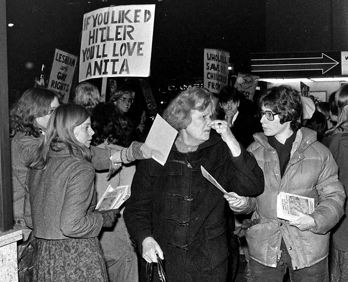 Anita Bryant protest in Vancouver