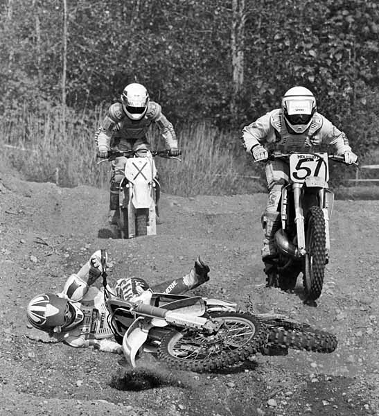 Motocross crash at Aldergrove 1991