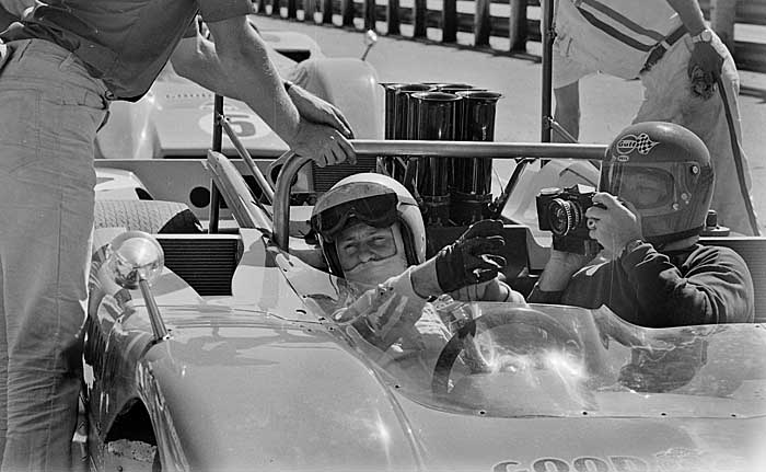 Bruce McLaren with Arthur Rickerby