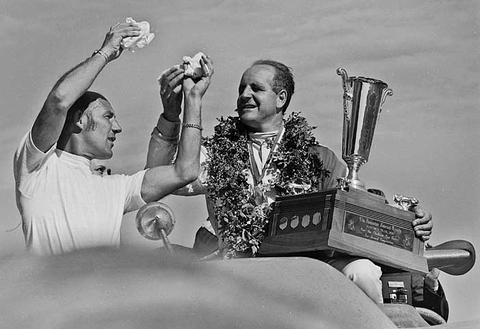Stirling Moss and Denny Hulme