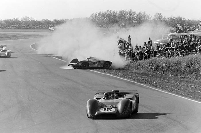 CanAm race crash Edmonton 1968
