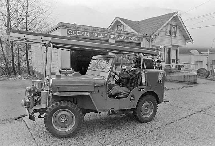 fire chief Ocean Falls 1980