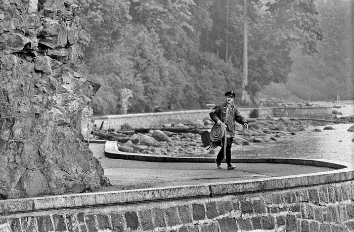 Fireman on the seawall Vancouver