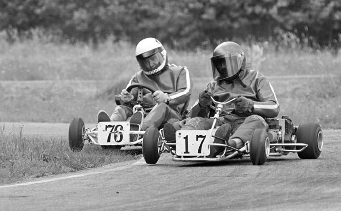 Kart racing at Westwood Racing Circuit.