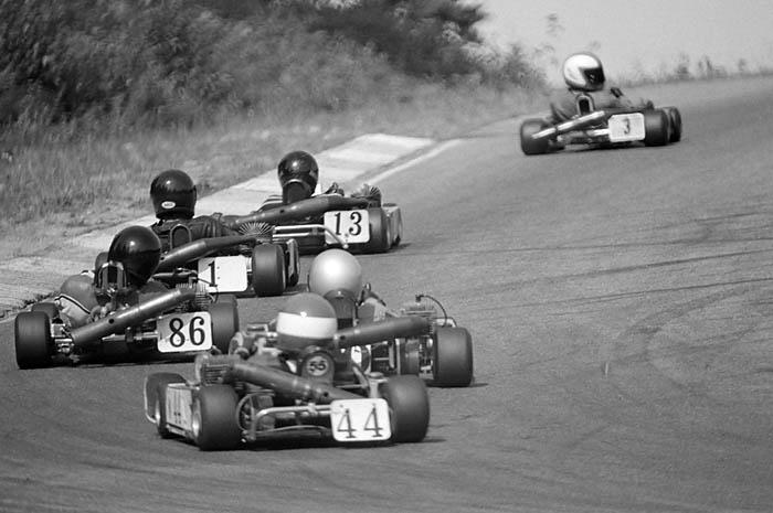 Enduro kart racing at Westwood Racing Circuit