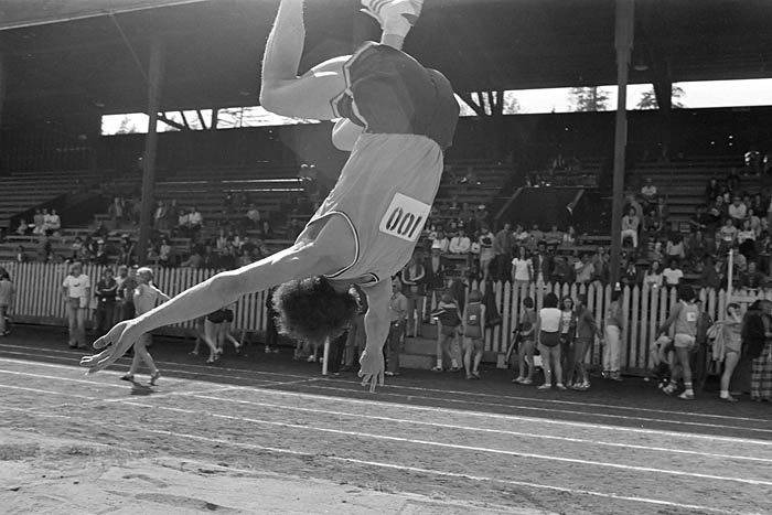 May 6th, 1974 -- Vancouver Relays at Brockton Oval in Stanley Park.