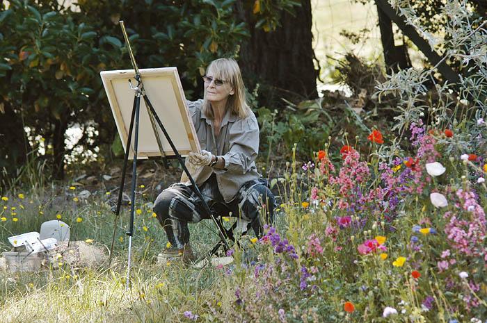 Kathy Robertson painting on Salt Spring Island