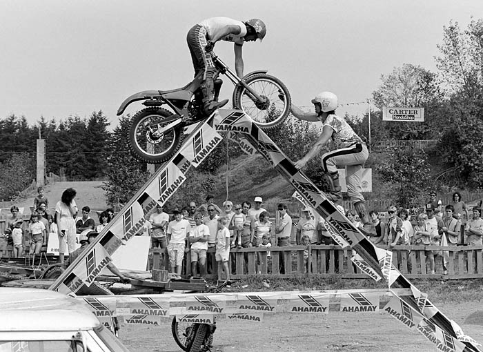 Trials motorcycle demonstration