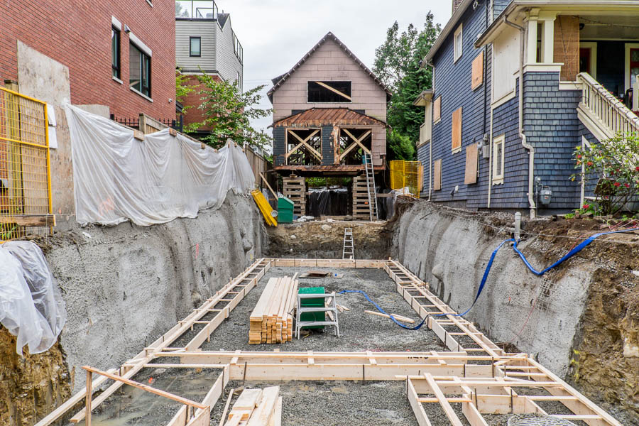House under construction in Vancouver